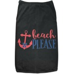 Chic Beach House Black Pet Shirt