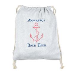 Chic Beach House Drawstring Backpack - Sweatshirt Fleece