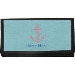 Chic Beach House Canvas Checkbook Cover