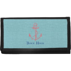 Chic Beach House Canvas Checkbook Cover