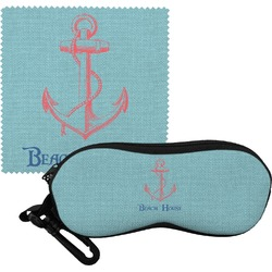 Chic Beach House Eyeglass Case & Cloth