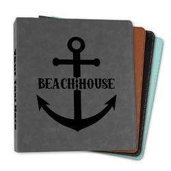 "Chic Beach House Leather Binder - 1"""
