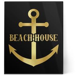 Chic Beach House 8x10 Foil Wall Art - Black
