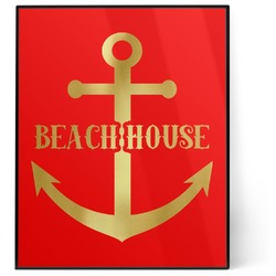 Chic Beach House 8x10 Foil Wall Art - Red