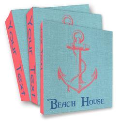 Chic Beach House 3 Ring Binder - Full Wrap