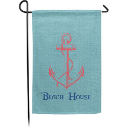 Chic Beach House Single Sided Garden Flag With Pole