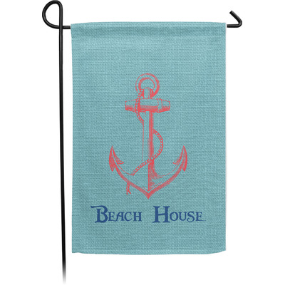 Chic Beach House Garden Flag - Single or Double Sided