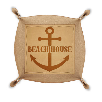 Chic Beach House Genuine Leather Valet Tray