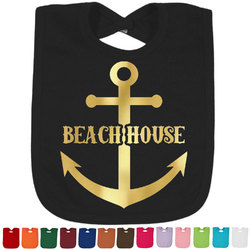 Chic Beach House Foil Baby Bibs (Select Foil Color)