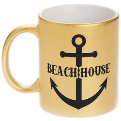 Chic Beach House Gold Mug