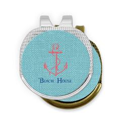 Chic Beach House Golf Ball Marker - Hat Clip