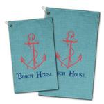 Chic Beach House Golf Towel - Full Print