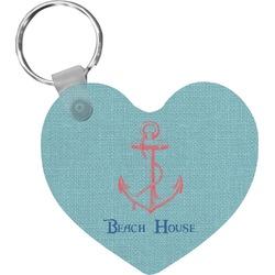 Chic Beach House Heart Keychain