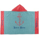 Chic Beach House Kids Hooded Towel