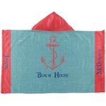 Chic Beach House Kids Hooded Towel