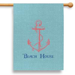 """Chic Beach House 28"""" House Flag"""