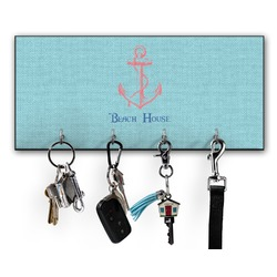 Chic Beach House Key Hanger w/ 4 Hooks