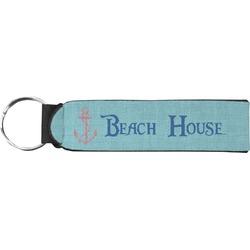 Chic Beach House Neoprene Keychain Fob