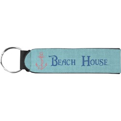 Chic Beach House Neoprene Keychain Fob