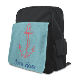 Chic Beach House Kid's Backpack with Customizable Flap
