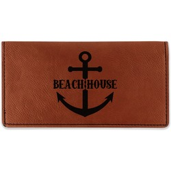 Chic Beach House Leatherette Checkbook Holder