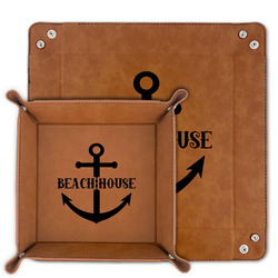 Chic Beach House Faux Leather Valet Tray