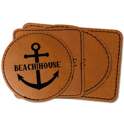 Chic Beach House Faux Leather Iron On Patch