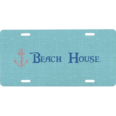 Chic Beach House Front License Plate
