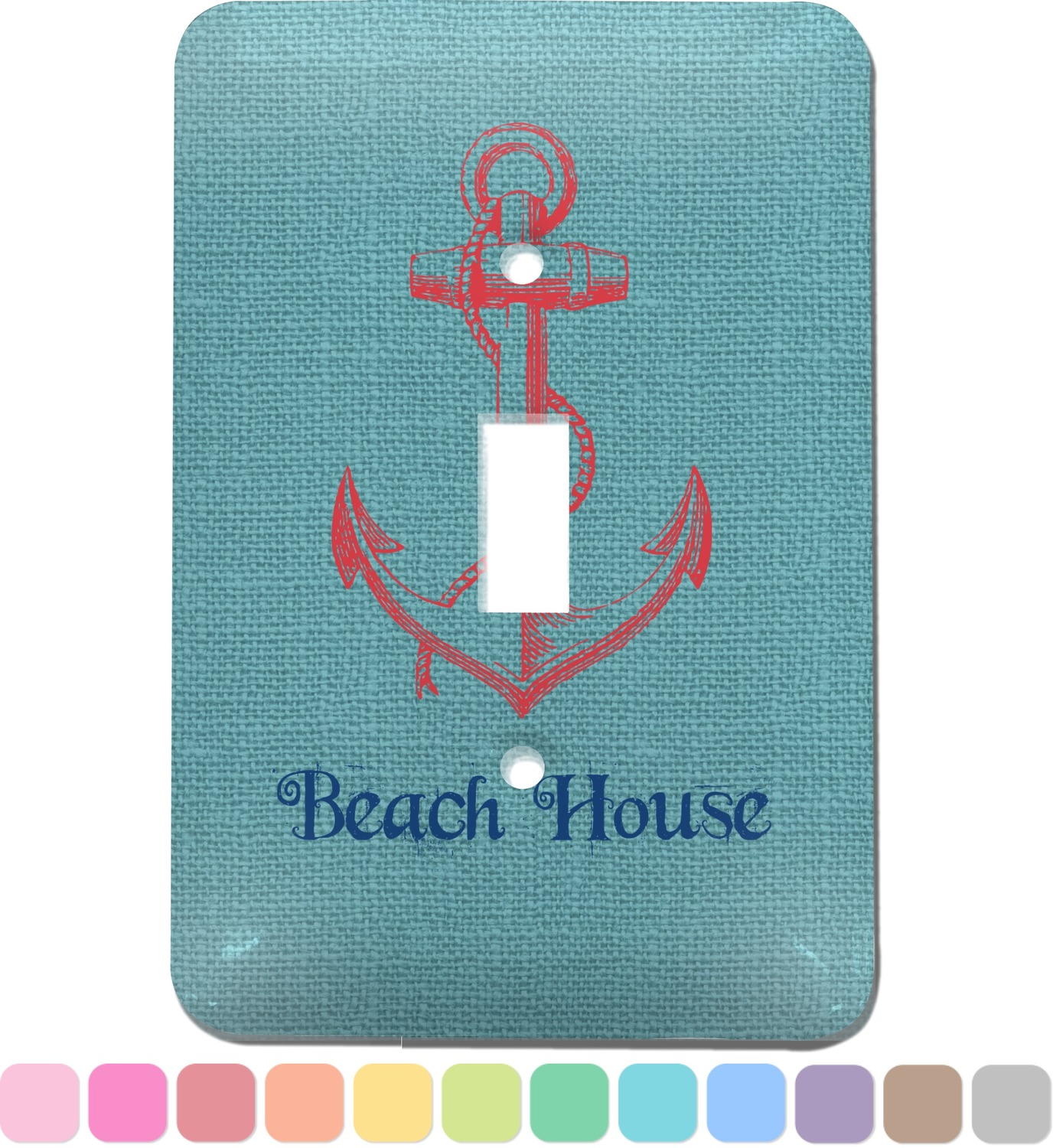 Chic Beach House Light Switch Cover Single Toggle