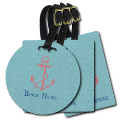 Chic Beach House Plastic Luggage Tags