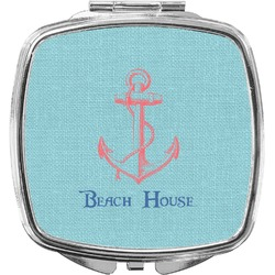 Chic Beach House Compact Makeup Mirror