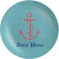 Chic Beach House Melamine Plate