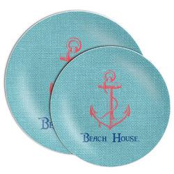 Chic Beach House Melamine Plate