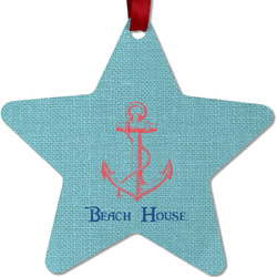 Chic Beach House Metal Star Ornament - Double Sided