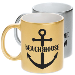 Chic Beach House Metallic Mug