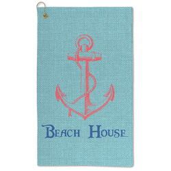 Chic Beach House Microfiber Golf Towel - Large