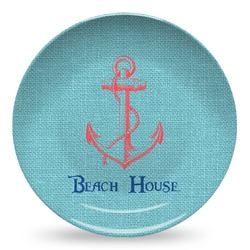 Chic Beach House Microwave Safe Plastic Plate - Composite Polymer