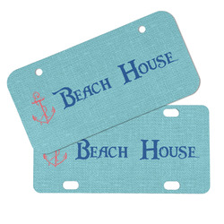 Chic Beach House Mini/Bicycle License Plates