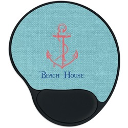 Chic Beach House Mouse Pad with Wrist Support