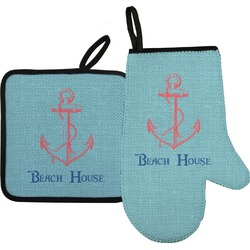 Chic Beach House Oven Mitt & Pot Holder