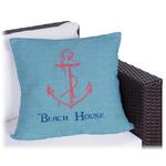 Chic Beach House Outdoor Pillow