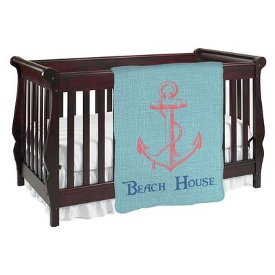 Chic Beach House Baby Blanket