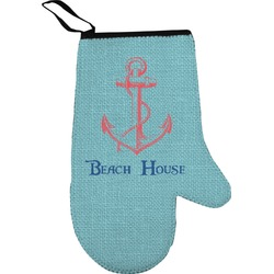 Chic Beach House Oven Mitt