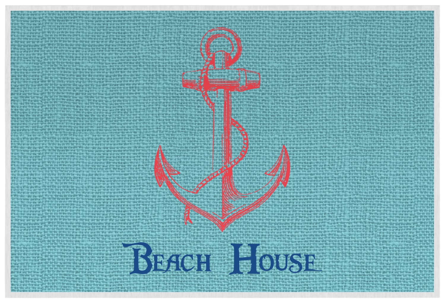 Chic Beach House Placemat Laminated Youcustomizeit