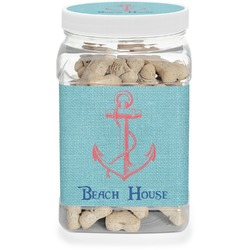 Chic Beach House Dog Treat Jar