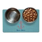 Chic Beach House Pet Bowl Mat