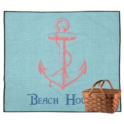 Chic Beach House Outdoor Picnic Blanket