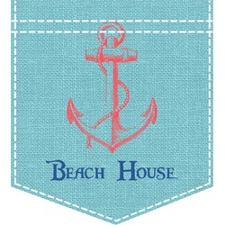 Chic Beach House Iron On Faux Pocket