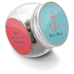Chic Beach House Puppy Treat Jar