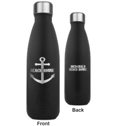Chic Beach House RTIC Bottle - Black - Engraved Front & Back